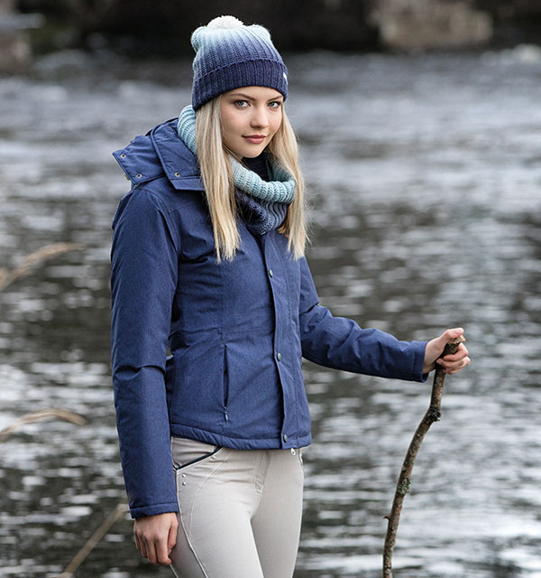 Brianna Riding Jacket | Denim Breeches| Ombre Hat & Snood