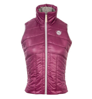 Eve Padded Gilet Berry, fabulous new fabric! - Horseware Ireland