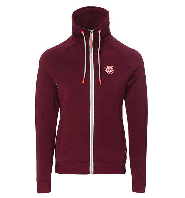 Ida High Neck Zip Garnet