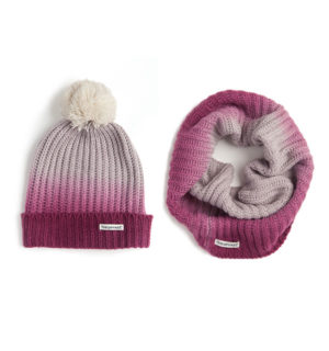 Ombre Hat and Snood Berry - Ladies Collection