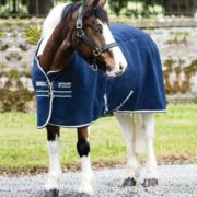 Rambo Deluxe Fleece Pony - Navy with Beige, Baby Blue & Navy