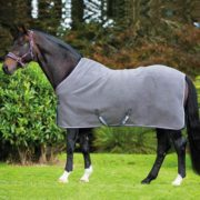 Rambo Deluxe Fleece - Charcoal with Silver, Raspberry & Blue