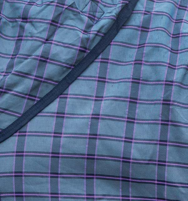 Charcoal with Light Purple check with Charcoal