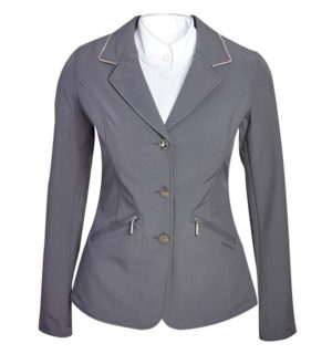 Embellished Girls Competition Jacket Grey