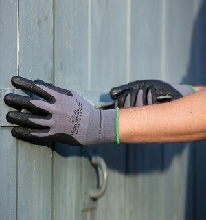 Coated Gloves Dot Grip Grey/Black - Horseware Ireland