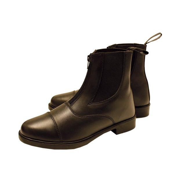 Horseware Short Riding Boot (with Zip) - Black & Brown Horseware Ireland