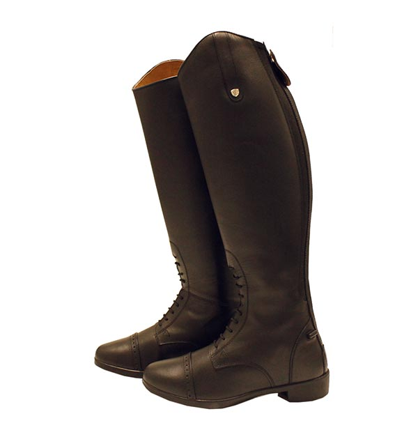 Riding footwear is a personal preference – some riders like short paddock style boots whereas others prefer the long, knee high riding boot. Ideal for dressage and showjumping, long riding boots add style, finesse and sophistication to give you that winning look in the show ring.