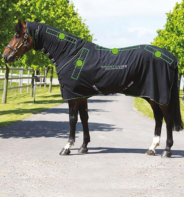 Sportz-Vibe Horses Rug - Massage Therapy for Horses - Horseware Ireland