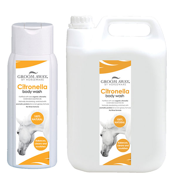 Citronella no Rinse Bodywash 400ml & 2.5l - Groom Away - Horseware