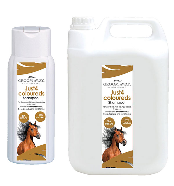 Just 4 Coloureds Shampoo 400ml / 2.5l - Groom Away - Horseware Ireland