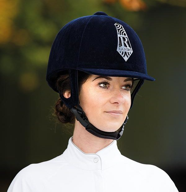 Rambo Velour Helmet Navy - Rambo Helmet Collection - Horseware