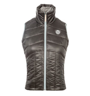 Eve Padded Gilet Pewter, fabulous new fabric! - Horseware Ireland