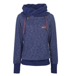 Edith Cowl Neck Navy a big trending piece for casual mid layering