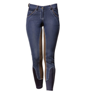 Ladies Denim Breeches Full Seat Blue Denim - Ladies Collection