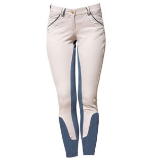 Ladies Denim Breeches Full Seat Grey Denim - Ladies Collection