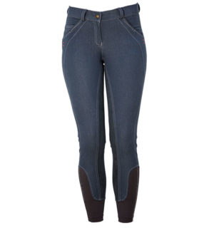 Ladies Denim Breeches Full Seat Dark Slate - Ladies Collection