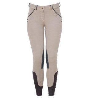Ladies Denim Breeches Knee Patch Grey Denim - Ladies Collection