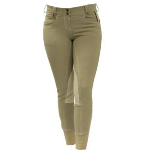 Adalie Ladies Breeches Knee Patch Tan - Polo Collection - Horseware