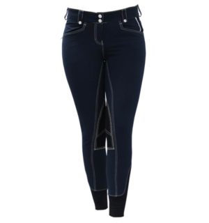 Adalie Ladies Breeches Knee Patch Navy - Polo Collection