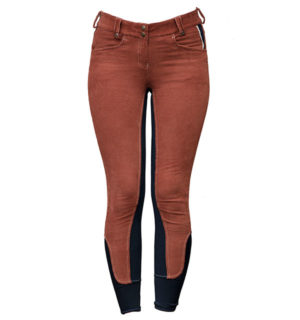 Adalie Cord Ladies Breeches Full Seat Gingerbread - Polo Collection