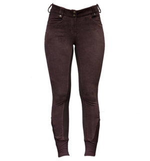 Adalie Cord Ladies Breeches Full Seat Coffee Bean - Polo Collection