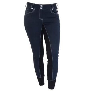 Adalie Ladies Breeches Full Seat Navy - Polo Collection