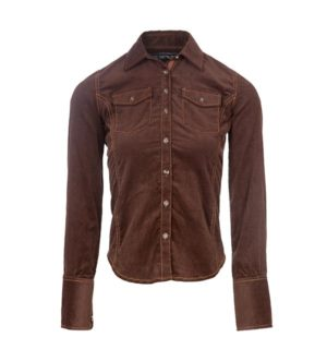 Corduroy Shirt Coffee Bean, is an equestrian must have!
