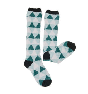 Softie Socks Storm Green Triangle