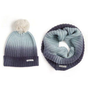 Ombre Hat and Snood Night Shadow - Ladies Collection