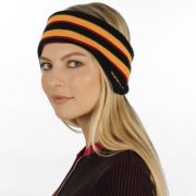 Striped Ear Warmers Black