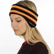 Striped Ear Warmers Black,