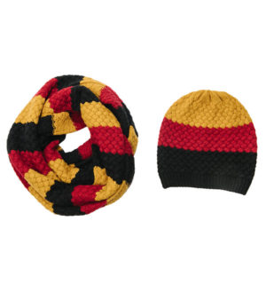 Knitted Hat and Snood Sunflower