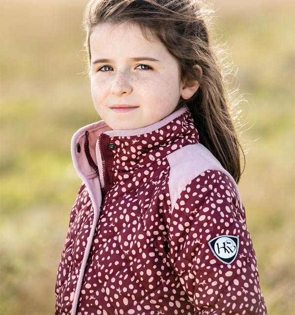 Kids Horse Print Jacket Wine - Kids Collection - Horseware Ireland