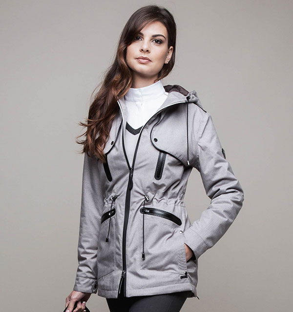Padova Waterproof Jacket Stone Grey - AA Platinum Collection