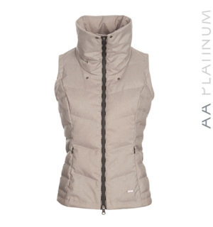 Pavia Padded Gilet Stone Grey - AA Platinum Collection