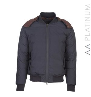 Terni Down Men's Bomber Navy - AA Platinum - Horseware Ireland