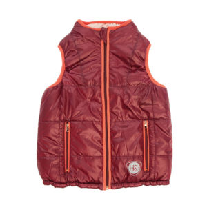 Reversible Kids Gilet Wine / Pink, two ways to wear ! - Kids Collection CEHEIG-QWIN