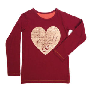 Girls Long Sleeve Top Wine - Girls Collection