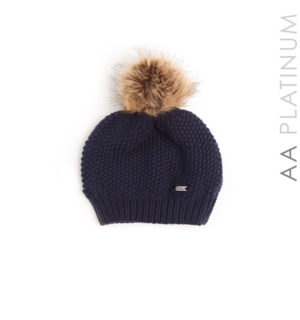 Wool Pom Pom Hat Navy - AA Platinum - Horseware Ireland