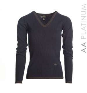 Asti Classic V Neck Sweater Ombre Blue - AA Platinum Collection