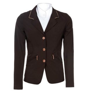 Embellished Ladies Competition Jacket Black/Rose Gold