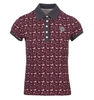Ashlinn Horse Print Ladies Polo Fig