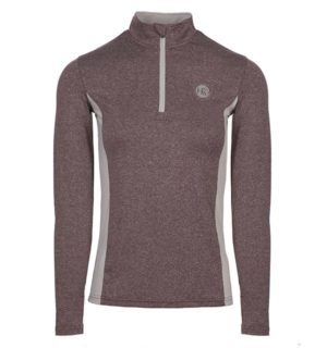 Aveen Melange Half Zip Tech Top Fig