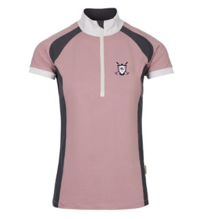 Eda Sporty Technical Ladies Polo Pink/Navy