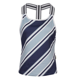 Tank Top with hidden Support Navy Multi Stripe