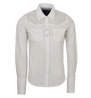 Flori Cotton Shirt White