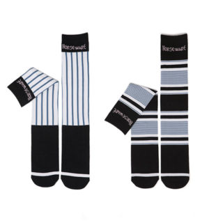 Show Socks Navy Multi Stripe