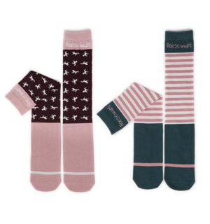 Knee Socks Mix Stripe Dot