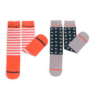 Kids Socks Stripe/Horse