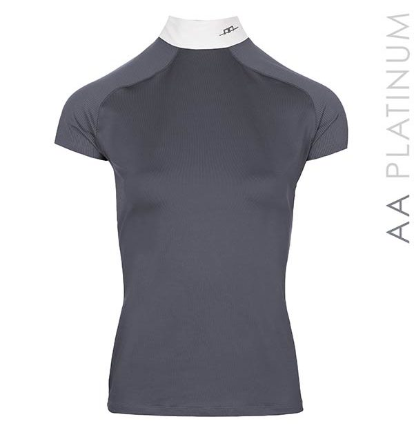 Milena Technical Top Dark Grey